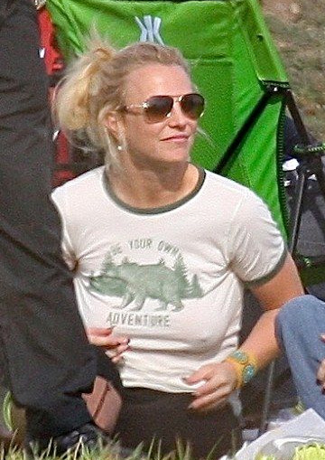 Truly Madly Deeply Bear Adventures Ringer Tee as seen on Britney Spears