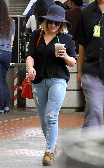 Saint Laurent Mocassin Indien Suede Booties as seen on Hilary Duff