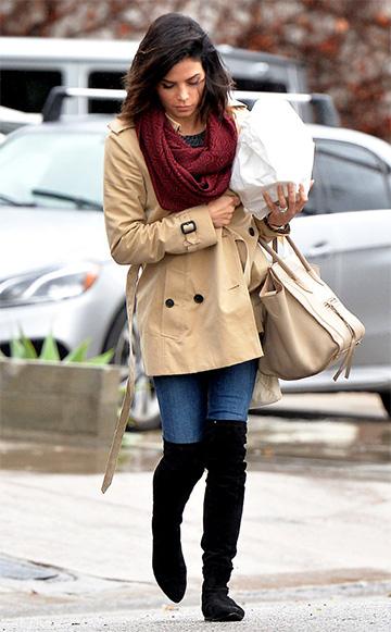 Burberry Sandringham Short Heritage Trench Coat as seen on Jenna Dewan-Tatum