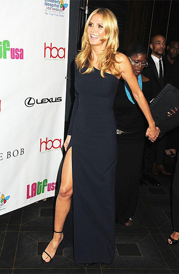 Elizabeth and James Palila One-Shoulder Gown as seen on Heidi Klum