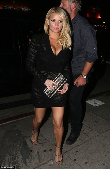 Balmain Tiger-Striped Mesh & Knit Dress as seen on Jessica Simpson