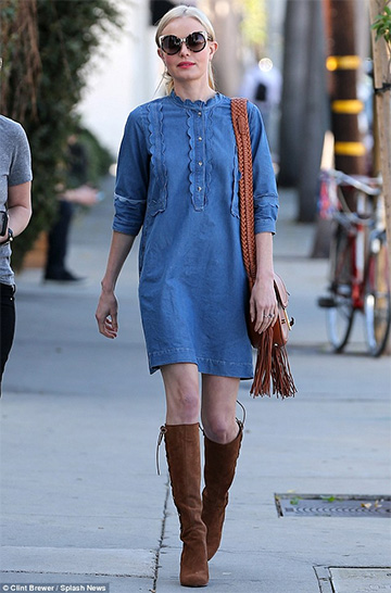M.i.H Jeans Angie Dress as seen on Kate Bosworth