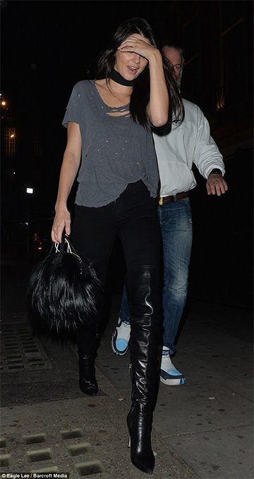 Unravel Basic Blue Distressed Tee as seen on Kendall Jenner