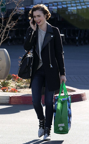 Raye Kelsi Natural Snake Booties as seen on Lily Collins