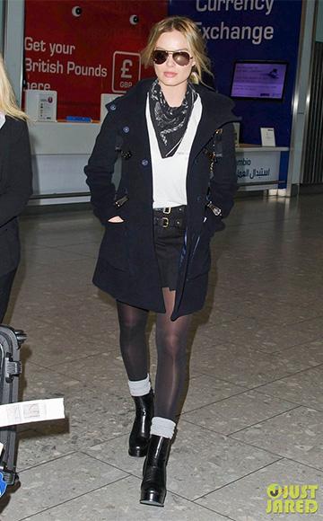 Isabel Marant Harmon Buckle Mini Skirt as seen on Margot Robbie