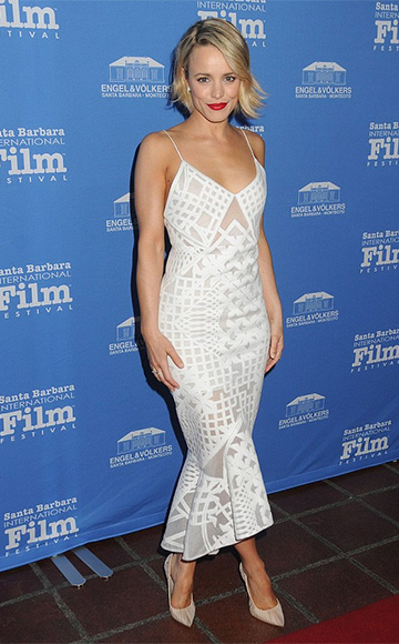 Jonathan Simkhai Sleeveless Bonded Burnout Midi Gown as seen on Rachel McAdams