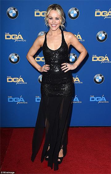 Michael Kors Pre-Fall 2016 Sequin Chiffon Dress as seen on Rachel McAdams