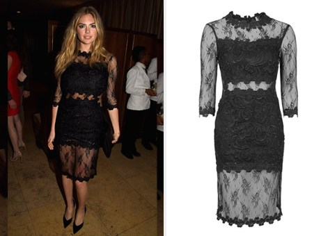 Topshop Illusion Lace Body-Con Dress as seen on Kate Upton