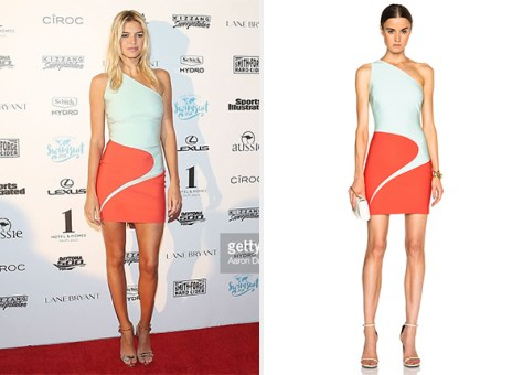 Mugler Mega Milano Mini Dress as seen on Kelly Rohrbach