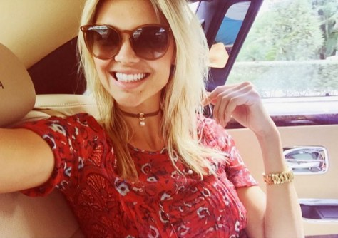 Veronica Beard Red Silk Papyrus Top as seen on Kelly Rohrbach