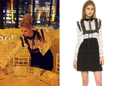 Self Portrait Adeline Lace Dress as seen on Nicky Hilton