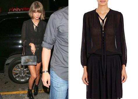 Isabel Marant Plisse Chiffon Kiandra Blouse as seen on Taylor Swift