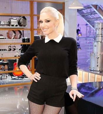 RED Valentino Wool & Silk Collared Sweater as seen on Gwen Stefani on The Voice