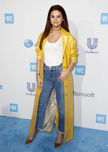 Vetements Season 3 Biker Jeans as seen on Selena Gomez