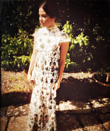 alice + olivia Arwen Embroidered Gown as seen on Jenna Dewan-Tatum Instagram