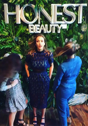Self-Portrait 60s Overlay Lace Maxi Dress as seen on Jessica Alba at Honest Beauty event, June 2016.