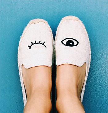 Soludos Jason Polan x Soludos Wink Espadrilles as seen on Victoria Justice Instagram.