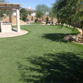 Backyard synthetic golf green in Phoenix