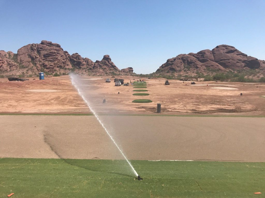 Installation of new ASU target golf course for Mens and Womens ASU Golf Teams