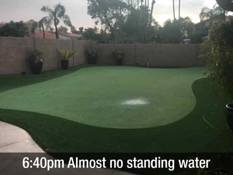 6:40pm almost no standing water