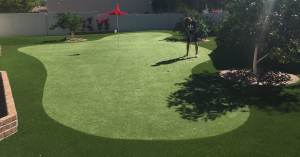 high school golf club custom putting green