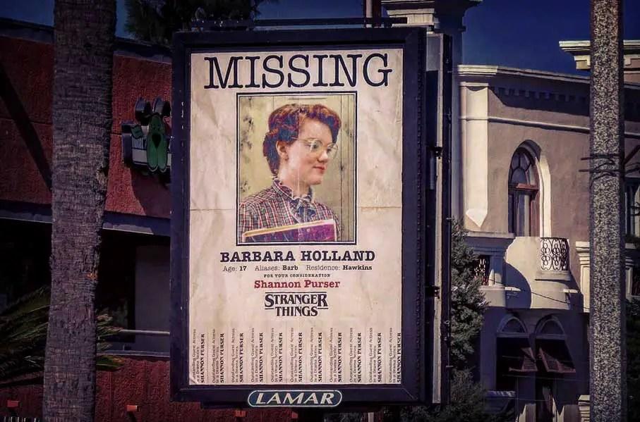Stranger Things Barb Missing Flyer