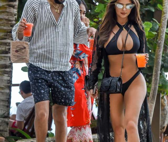 Demi Rose Stuns In A Black Bikini While Out To Lunch With Boyfriend Chris Martinez In Tulum Mexico