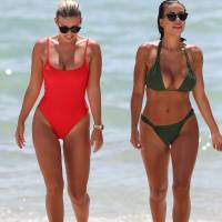 Devin Brugman and Natasha Oakley Stills in Biknis on the Beach in Miami