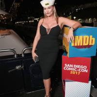 Natasha Henstridge Stills at imdboat Party in San Diego