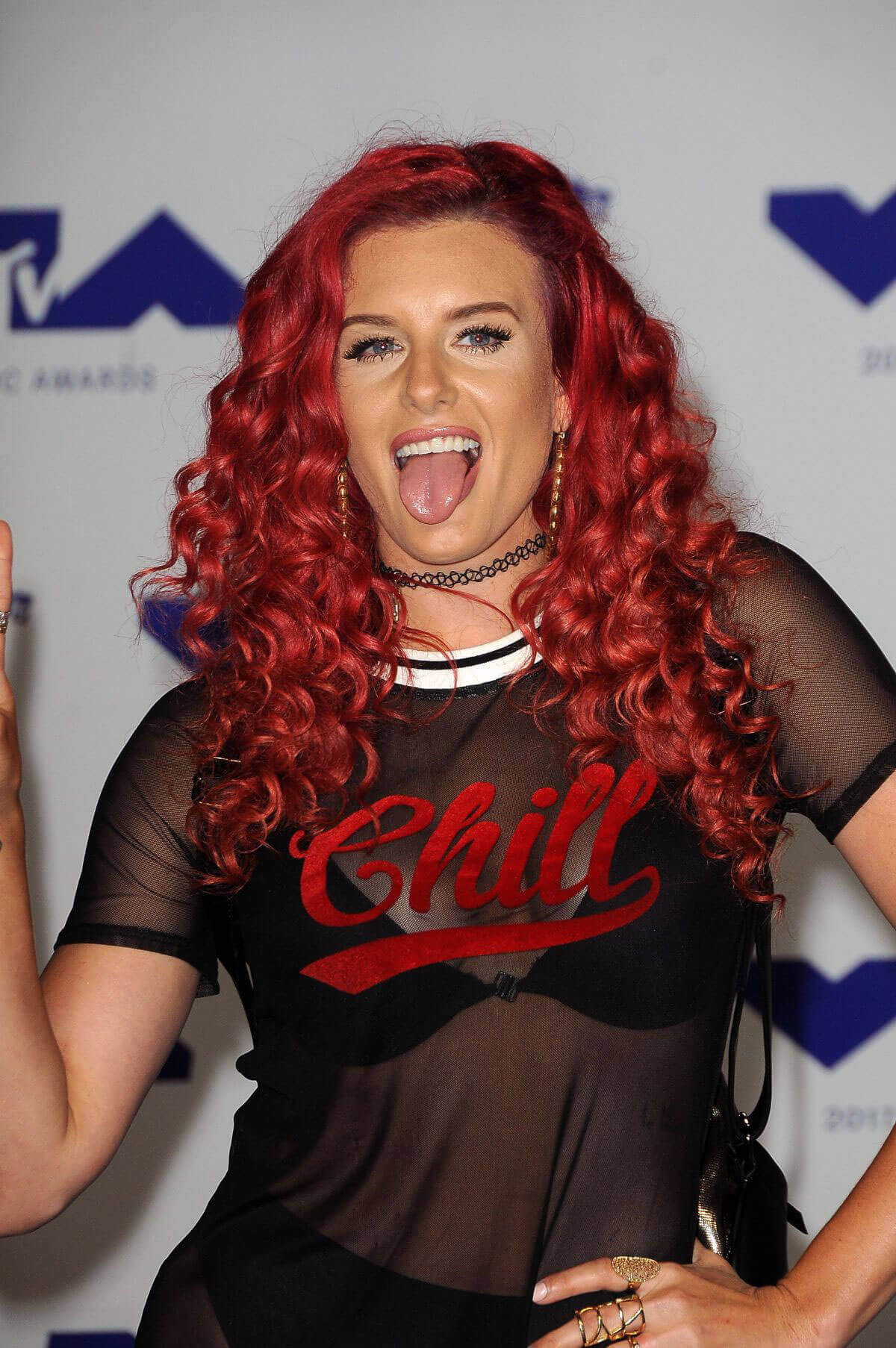 Justina Valentine Wears Transparent Dress At 2017 MTV