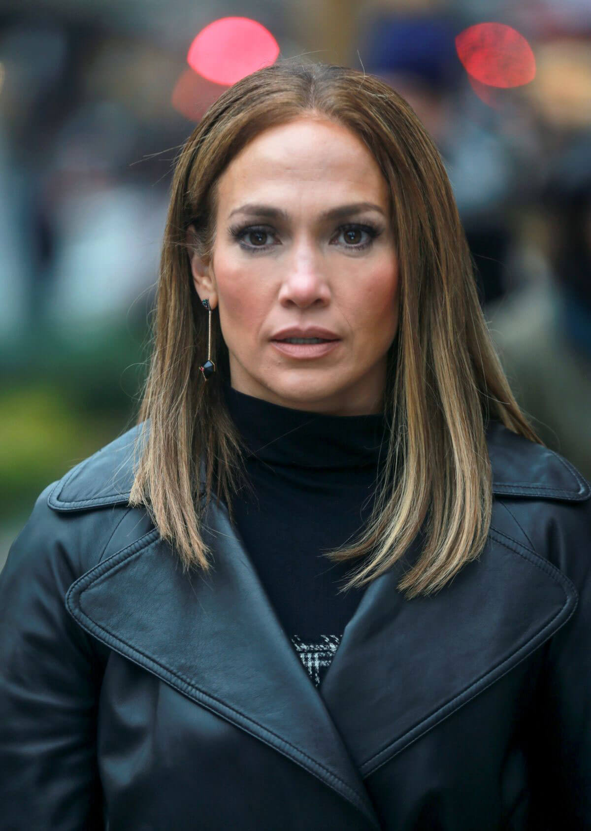 Jennifer Lopez Stills On The Set Of Second Act In New York
