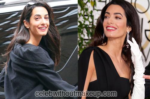 Amal Clooney Celeb Without Makeup 1