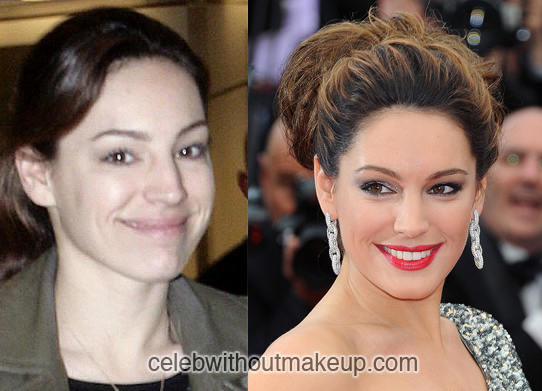 Kelly Brook Before and After Makeup