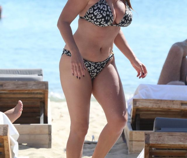 Kelly Brook On The Beach In Greece