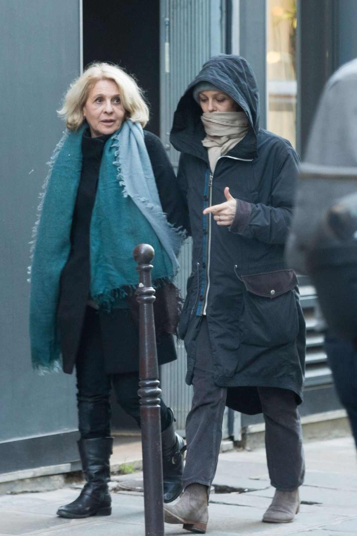 Lily-Rose Depp Walks with her mother Vanessa Paradis and her grandmother Corinne Paradis in the streets of Paris