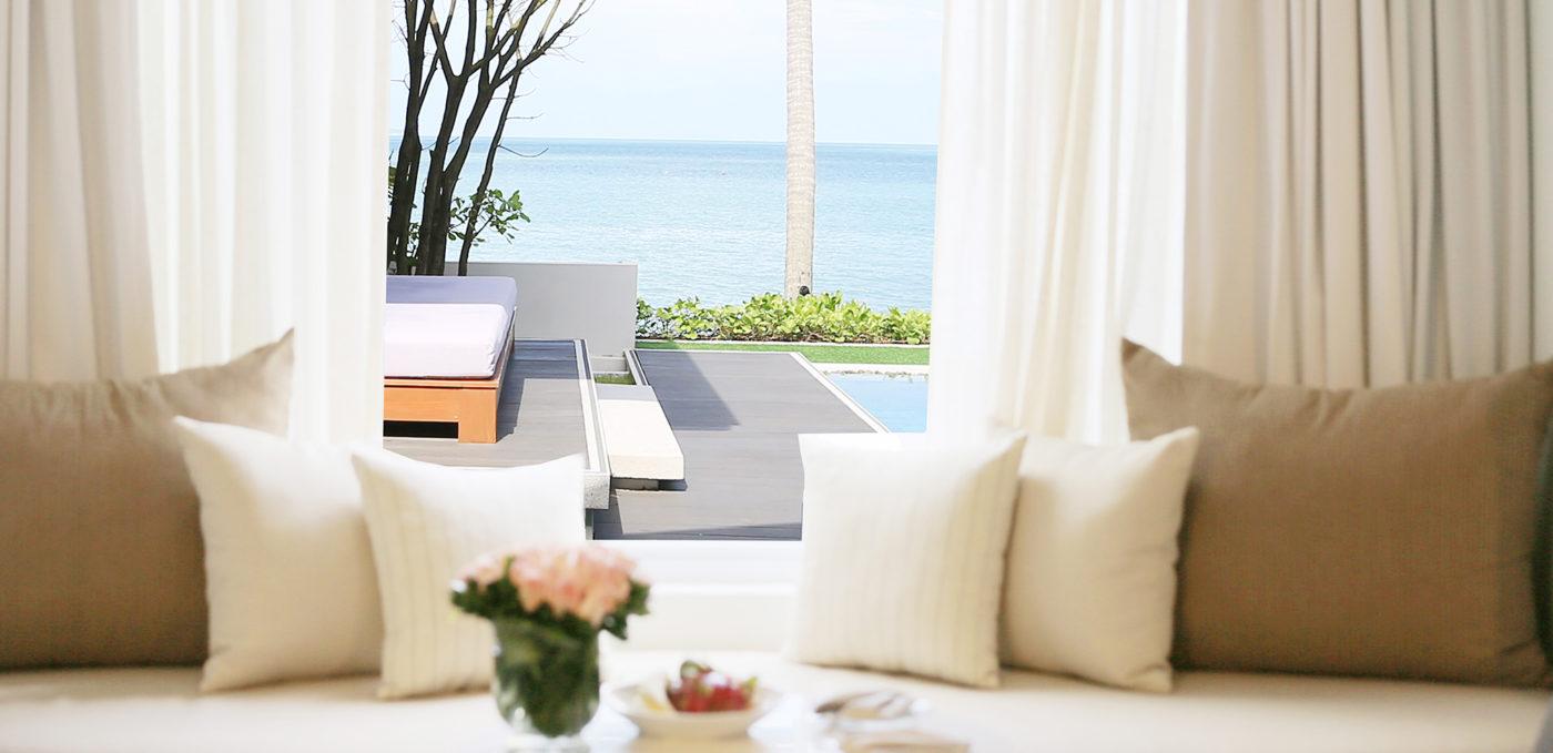 luxury beachfront pool villa in koh samui i celes beachfront resort
