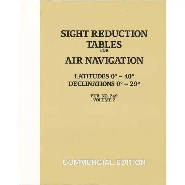 HO-249 Air Navigation Volume 2 Latitudes 0-40