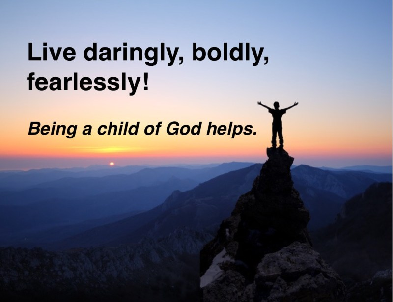 DARE Quote-being a child of God helps