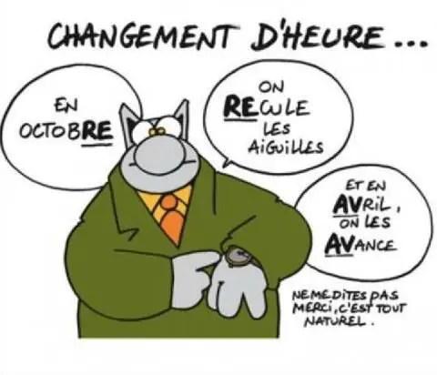 Philippe Geluck - Le Chat: changement d'heure Chat ch'est une Astuce !