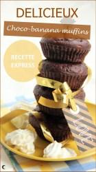 Recette de muffins choco-banane rapide et facile