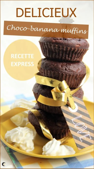 Recette de muffins choco-banane rapides et faciles
