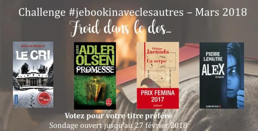 Challenge de lecture #Jebookin avec les autres - Edition nr. 2