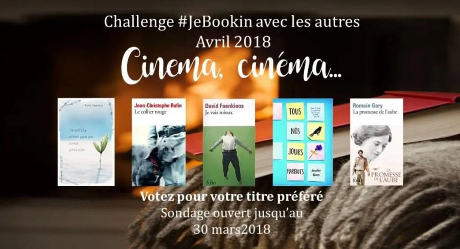 Club de lecture #JeBookin - Challenge d'avril 2018 (#JeBookin avec les autres)