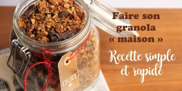 Testez ma recette de granola maison saine et facile à réaliser.
