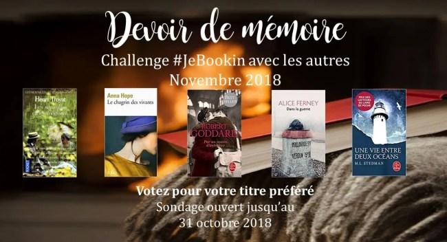 JeBookin avec les autres - Edition de novembre 2018: Devoir de mémoire