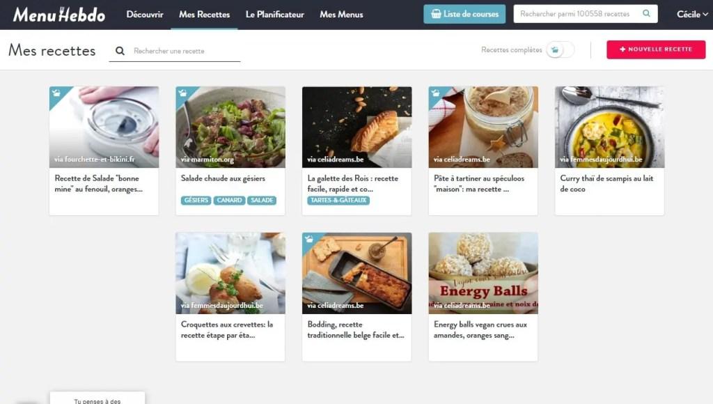 Avis menuHebdo: une application de planification simple et efficace pour planifier vos menus et repas de la semaine.