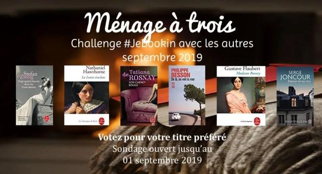 Challenge JeBookin avec les autres septembre 2019