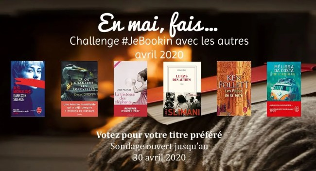 Club de lecture virtuel #JeBookin: challenge de lecture commune de mai 2020