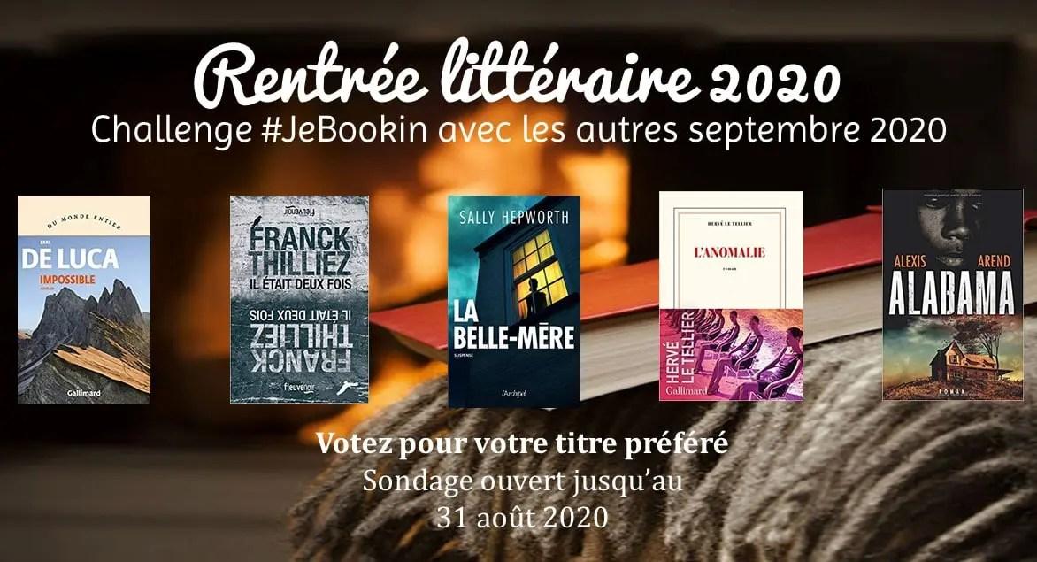 Challenge #JeBookin avec les autres septembre 2020 - la sélection de livres