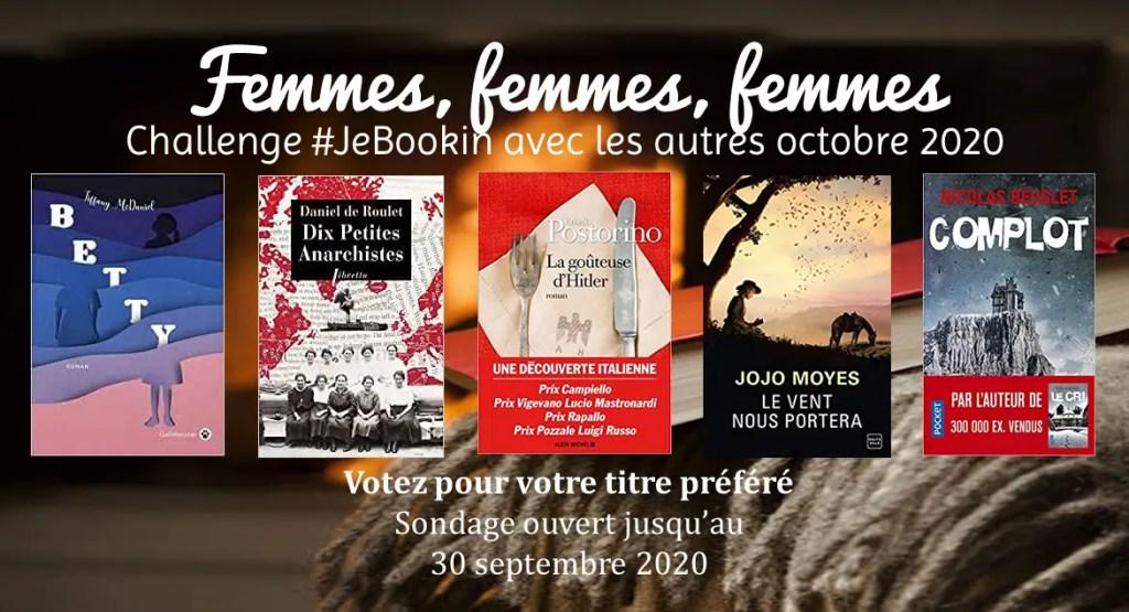 Challenge #JeBookin octobre 2020